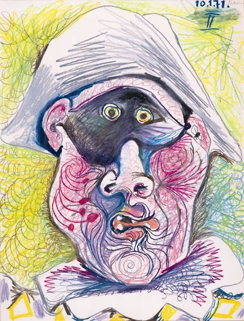 2 Pablo Picasso. Testa di Arlecchino II uaumag