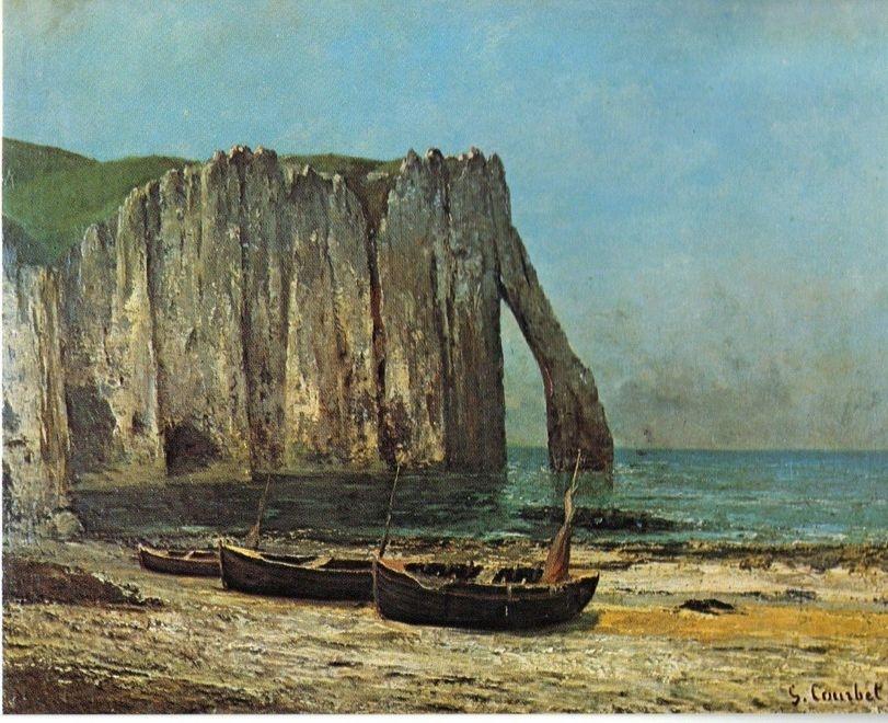 Gustav Courbet. La scogliera a Etretat, 1869 uaumag