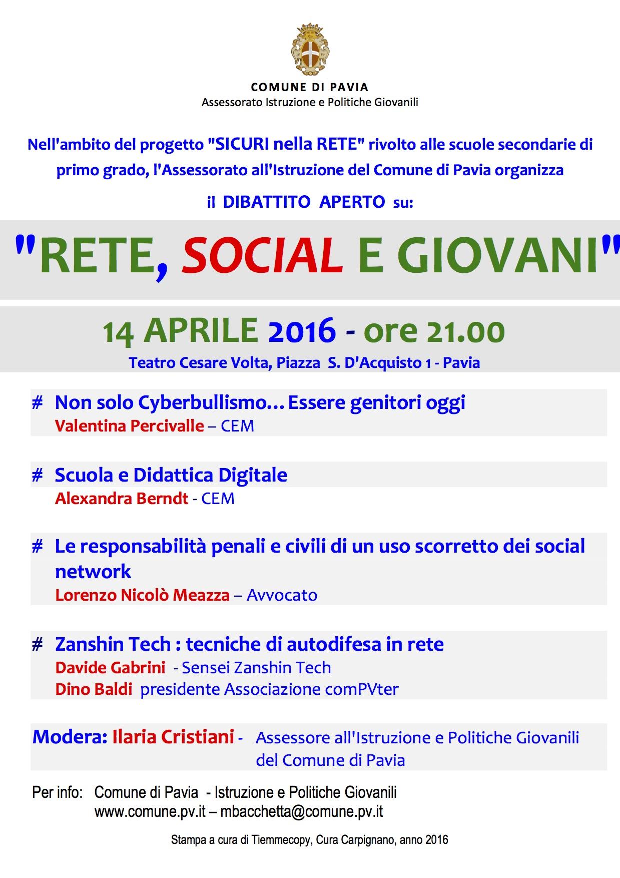 Locandina 14 aprile 2016_SicurinellaRETE_A3